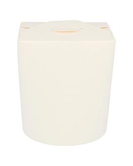 noodle boxes 480 ml 305 + 18 pe gsm Ø8x9 cm white cardboard (50 unit)