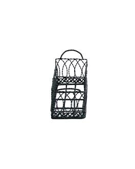 baskets rectangulaires 21x8x7 cm noir acier (1 unitÉ)