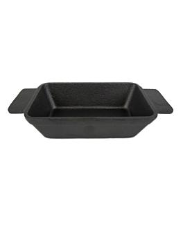 emaillierter topf 13,7(17,8)x9,2x3,8 cm schwarz eisen (8 einheit)
