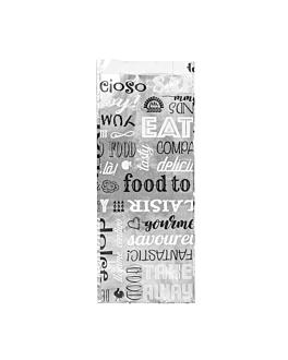 sachets pour sandwiches 'parole' 35+20 g/m2 9+4x22 cm argente parchemin + aluminium (500 unitÉ)