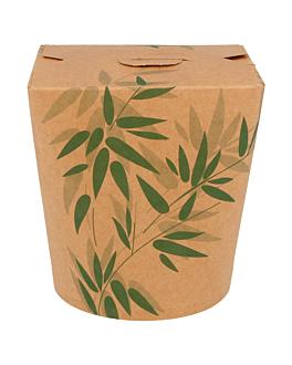 embalagens p/noodles 'feel green' 960 ml 275 + 25peld g/m2 Ø9x10,8 cm castanho cartolina (50 unidade)