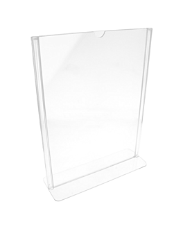 porta menÚs sobremesa din-a4 21x29,7 cm transparente ps (10 unid.)