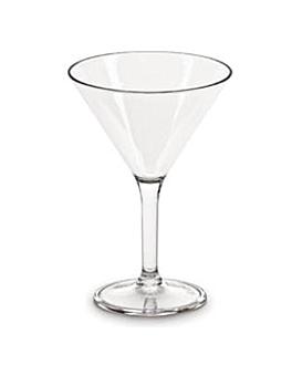 "copes ""martini"" 220 ml Ø 10x13,8 cm transparent policarbonat (72 unitat)"