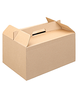 cases for take away meals 'thepack' 330 gsm 24,5x13,5x12 cm natural microchannel corrugated cardboard (100 unit)