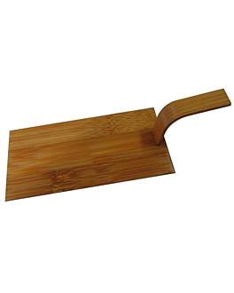 mini pÁs para aperitivos 10x5 cm natural bambÚ (100 unidade)