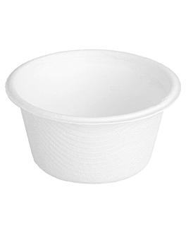pots 'bionic' 55 ml Ø 6x3 cm blanc bagasse (1000 unitÉ)