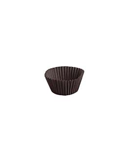 cÁpsulas 'petits fours' 50 g/m2 Ø 2,4x2 cm cacao perg. antigrasas (2000 unid.)