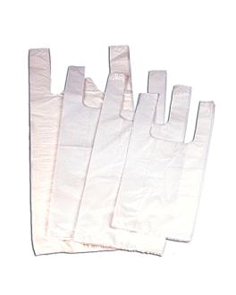 sacs bretelle 20µ 30/20x40 cm blanc pehd (200 unitÉ)