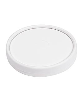 couvercles pour gobelets 280 g/m2 + pe Ø 9 cm blanc carton (1000 unitÉ)