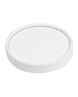 lids for cups 280 gsm + pe Ø 9 cm white cardboard (1000 unit)