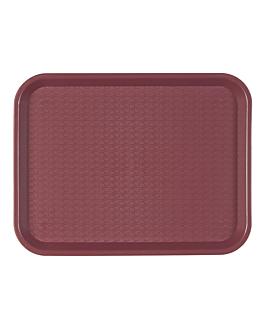 fast food tray 27,5x35,5 cm burgundy pp (1 unit)
