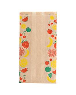 sachets plats pour fruits 1 kg 32 g/m2 14+9x26 cm naturel kraft (500 unitÉ)
