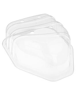 tapas para cÓdigo 223.81 23,5x18,5x8 cm transparente pet (210 unid.)