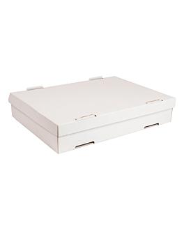 boÎtes À pÂtes 348 g/m2 40x30x8 cm blanc carton (50 unitÉ)