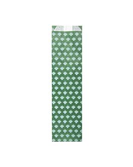Étuis pour couverts 'park avenue' 32 g/m2 7+4x26 cm vert prairie cellulose (500 unitÉ)