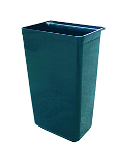 large bucket for service trolley 37x22x50,5 cm black pp (1 unit)