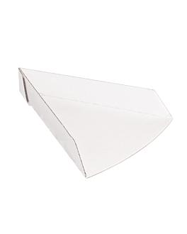 vaschette triangolare pizza 'thepack' 230 g/m2 21x16,5x3,5 cm bianco cartone ondulato a nano-micro (1200 unitÀ)