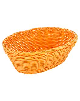 corbeilles similaire osier ovales 23x17x8 cm orange pp (12 unitÉ)