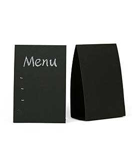 carteles sobremesa 10x15,2 cm negro papel (6 unid.)