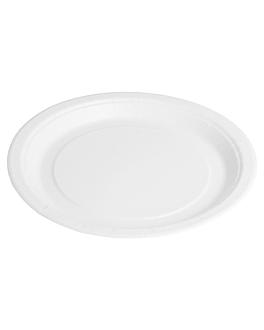 round bio-lacquered plates 202 gsm Ø 18 cm white cardboard (800 unit)