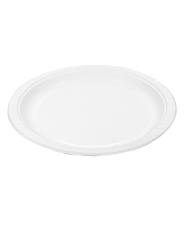 round plates 195 gsm Ø 18 cm white cardboard (800 unit)
