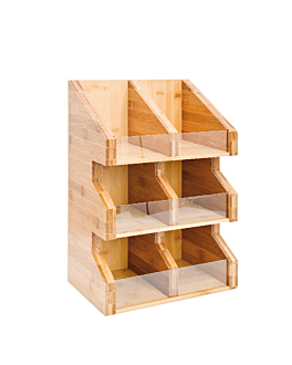 condiments organizer 28x18x40 cm natural bamboo (2 unit)