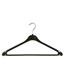 inexpensive hangers 42x23 cm black plastic (100 unit)