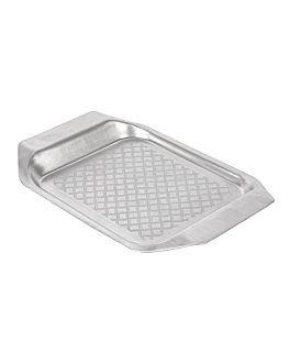 serving tray s 26,2x17,5x2,3 cm silver stainless steel (12 unit)