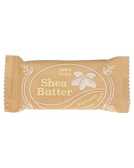 savonnettes flow pack 'shea butter' 8 g 7x3 cm blanc (1000 unitÉ)