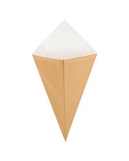 spitztÜten fÜr frittierte speisen-wellpappe 250 g 16x27 cm natur kraft (600 einheit)