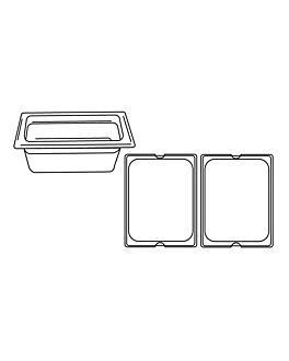 gastronorm pan 1/2 5,6 l 32,5x26,5x10 cm clear polycarbonate (1 unit)