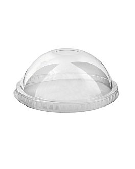 dome lids with hole for codes 153.10/11 Ø 9,8 cm clear pet (1000 unit)