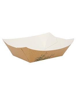 barchette 'feel green' 960 g 300 g/m2 10,5x7,2x4,5 cm marrone cartone (200 unitÀ)