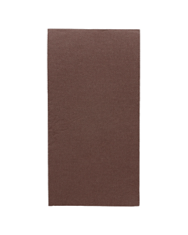 guardanapos ecolabel dobrados 1/8 'double point' 18 g/m2 40x40 cm chocolate tissue (1200 unidade)