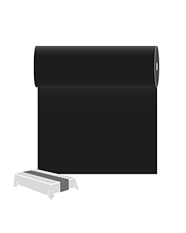 caminos de mesa 55 g/m2 0,30x12 m negro airlaid (6 unid.)