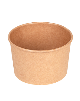 salad bowls 480 ml 300 + 18 pe gsm Ø11,1/9,5x7 cm natural kraft (500 unit)