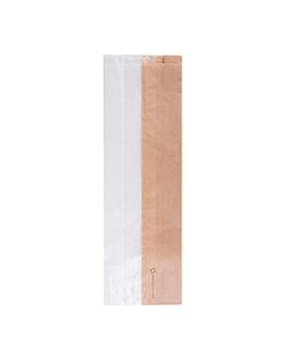bolsas para sÁndwiches con ventana eco 'corner window' 40 g/m2 12+6x38 cm natural kraft (250 unid.)