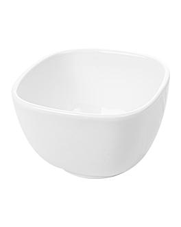 bols carrÉs 700 ml 12,5x8 cm blanc porcelaine (6 unitÉ)