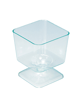 injected square glasses 60 ml 4,6x5,3 cm sea green ps (288 unit)