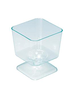 copas inyectadas cuadradas 60 ml 4,6x5,3 cm verde agua ps (288 unid.)