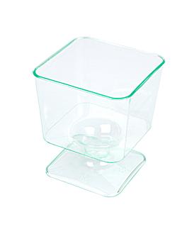 coppa iniettata quadrata 60 ml 4,6x5,3 cm verde acqua ps (288 unitÀ)