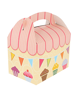 party boxes 'party' 320 gsm 17x16x10 cm four coloured cardboard (300 unit)
