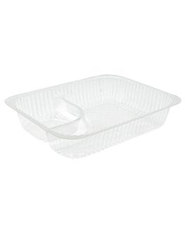 barquettes 2 compartiments 'nachos' 18,5x14x3,8 cm transparent ops (900 unitÉ)