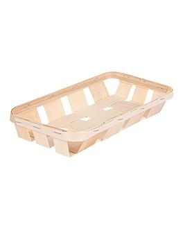 baskets 26x12,5x4 cm natural wood (120 unit)