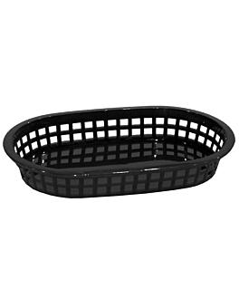 corbeilles allongÉes 28x17,5x4 cm noir pp (12 unitÉ)