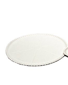 dishes for pizza Ø 33 cm white cardboard (200 unit)