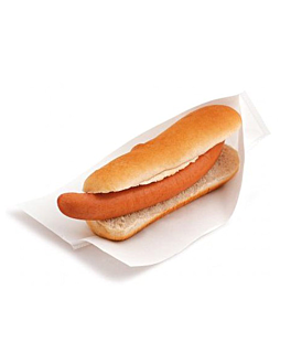 sacos abertos, aperitivos, hot dogs 'open pack' 35 g/m2 + 10 peld 25x13/10 cm branco kraft (100 unidade)