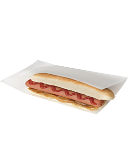 open bags for morsels, hot dogs 'open pack' 35 gsm + 10 peld 25x13/10 cm white kraft (100 unit)