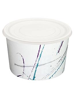 couvercles pots 650 ml Ø 12,1 cm ps (100 unitÉ)