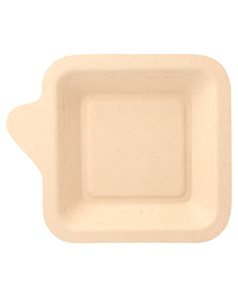 square plates 'bionic' 11x11x1,7 cm natural bagasse (1000 unit)